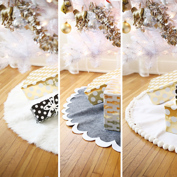 How-To: 3 Easy No-Sew Tree Skirts
