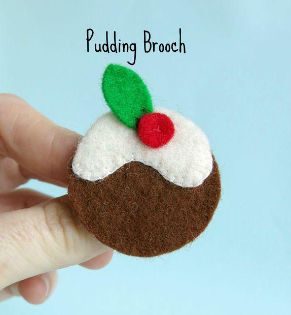 DIY Felt Pudding Brooch