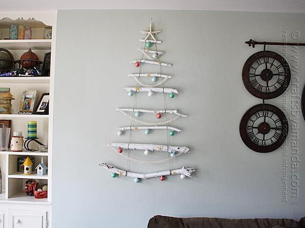How-To: Coastal Branch Holiday Tree