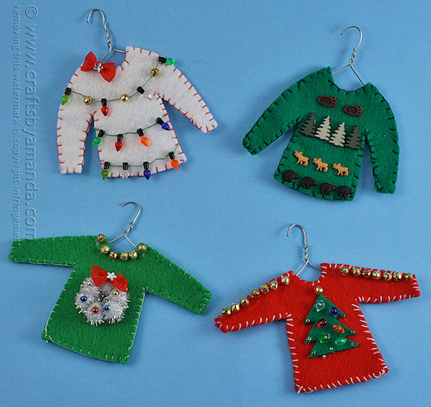 How-To: Ugly Christmas Sweater Ornaments