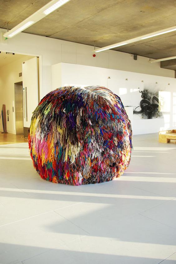 The Making of Eleanor Davies' Giant Pom Pom Sculpture