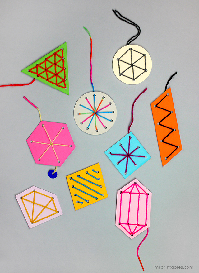 Easy Stitching Ornaments for Kids