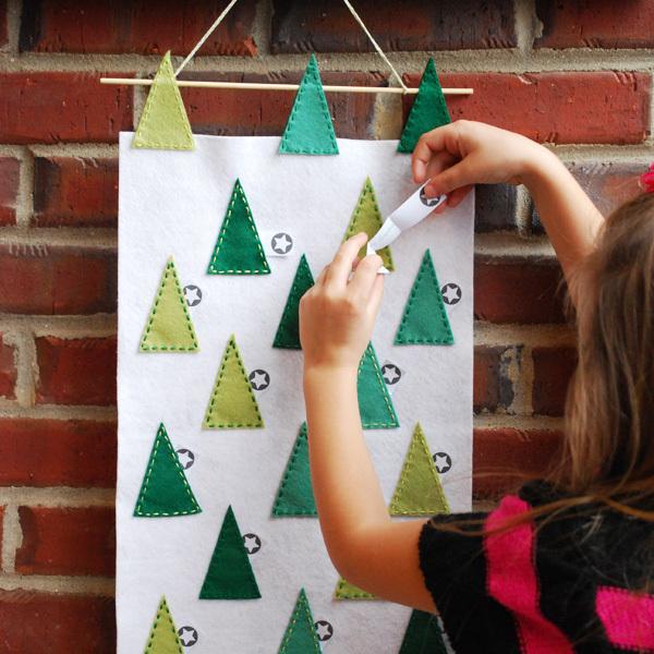 How-To: Felt Tree Scape Advent Calendar