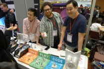 The guys from Aesthetec and their Little Robot Friends