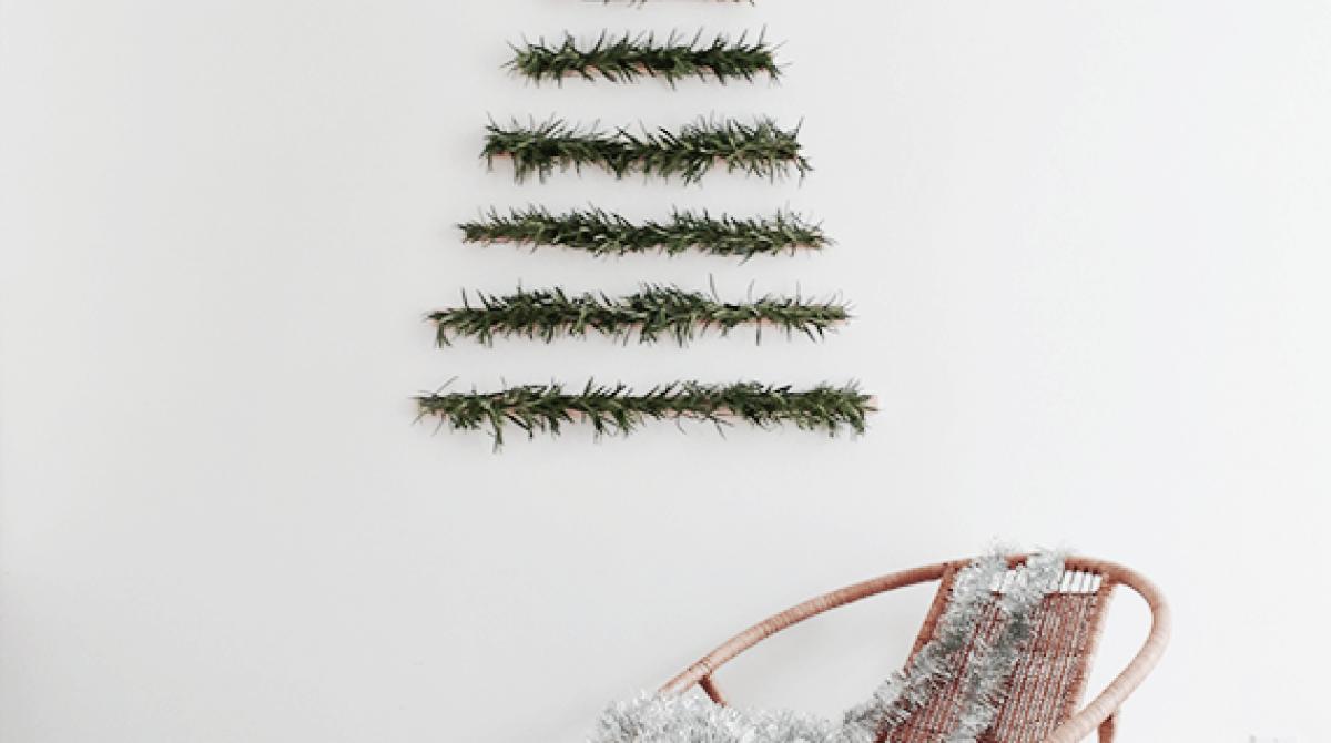 Wall Hanging Christmas Tree diy makeshift christmas tree wall hanging | make: