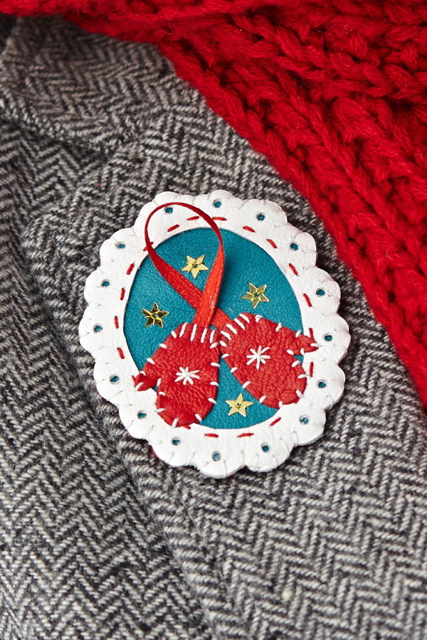 How-To: Leather Holiday Brooch
