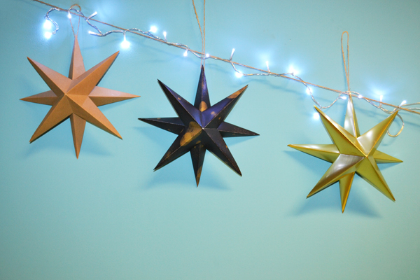 How-To: Origami Star Holiday Decorations