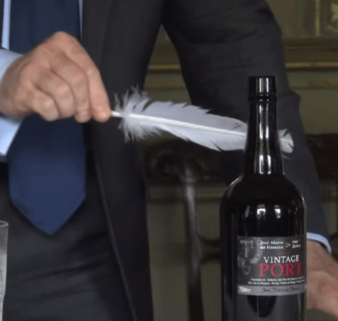 How to Open a Bottle of Port with a Feather