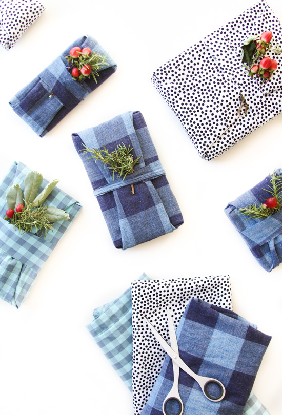 How-To: Fabric-Wrapped Gifts