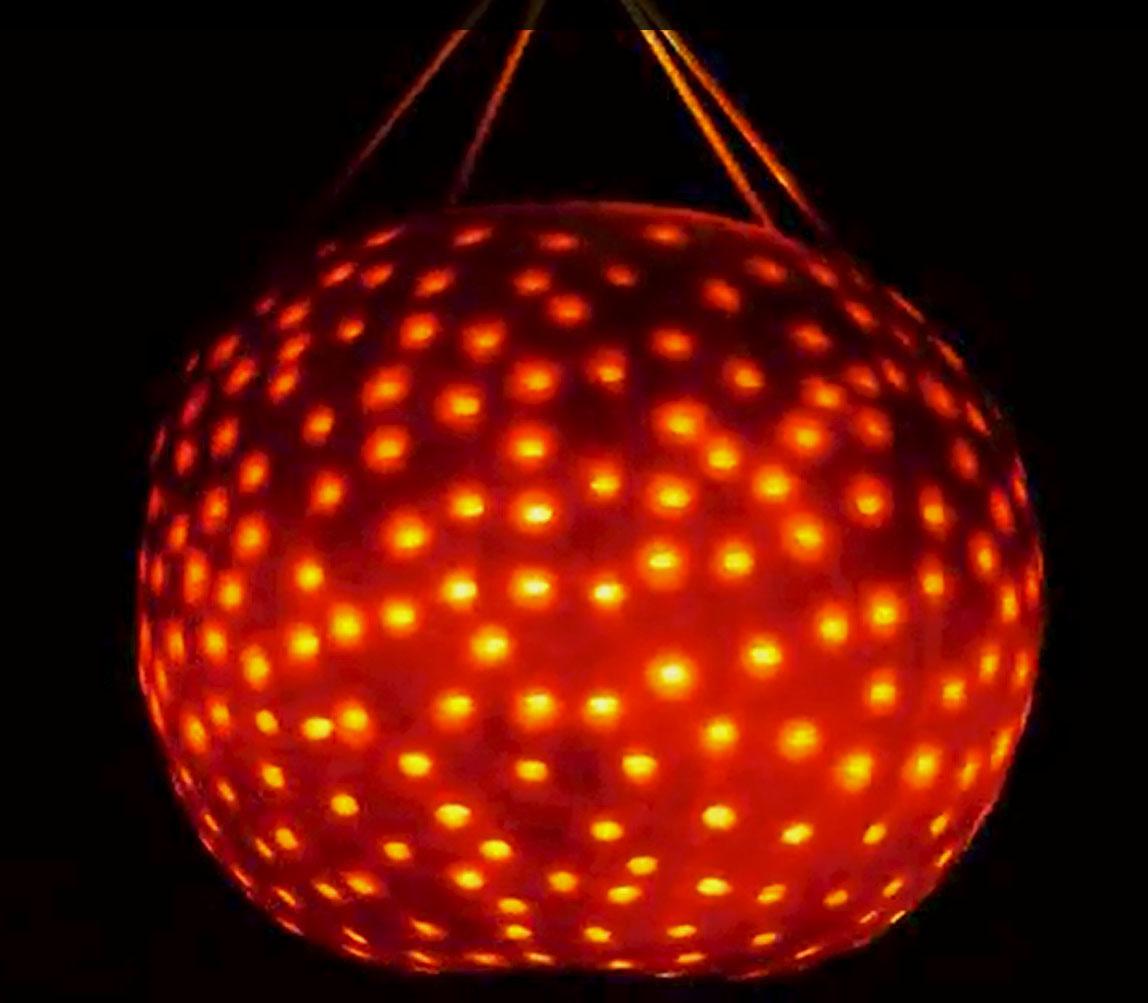 A Pumpkin Disco Ball
