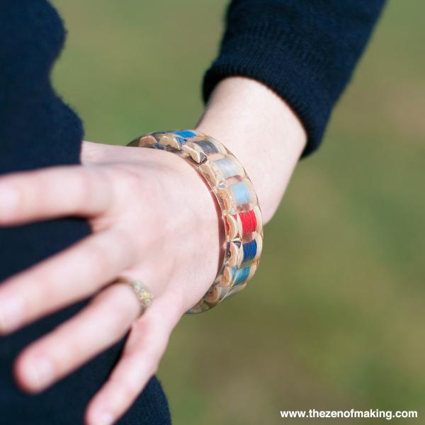 How-To: Resin Thread Spool Bracelet