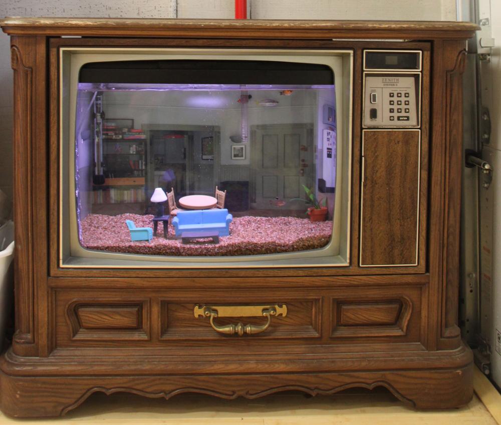 DIY Seinfeld TV Aqaurium