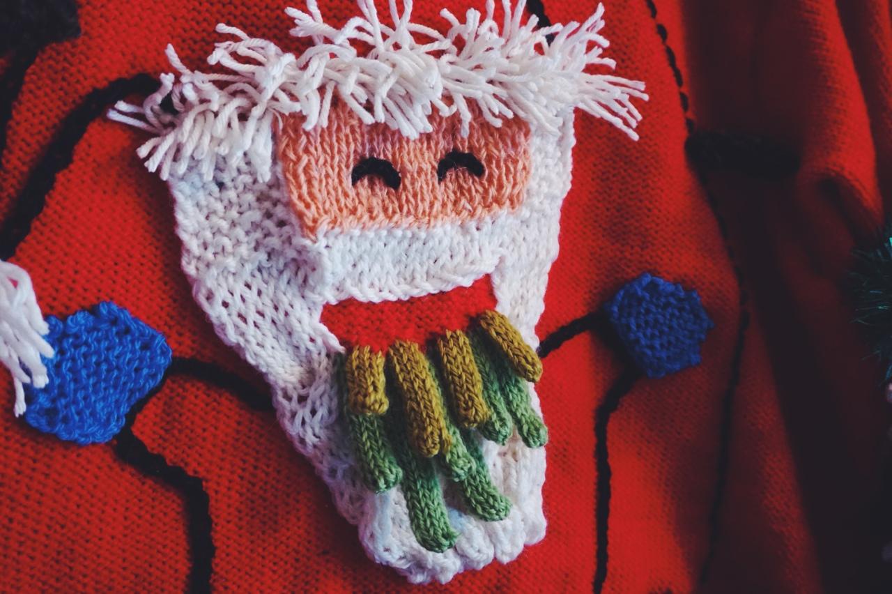 Ýr Jóhannsdóttir's Vomiting Santa Sweater