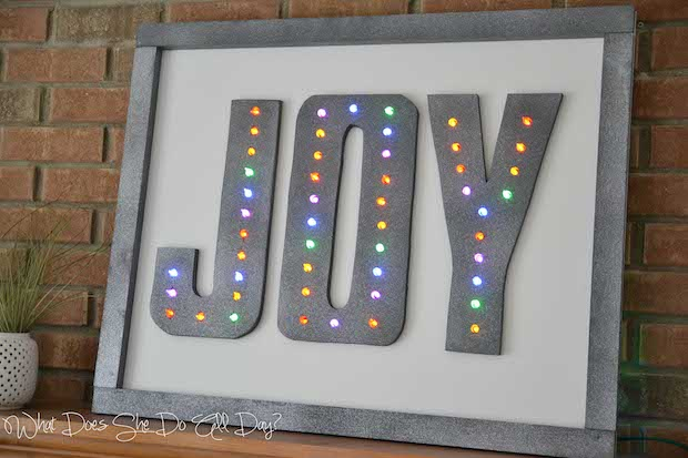 Holiday Inspiration: JOY Holiday Marquee