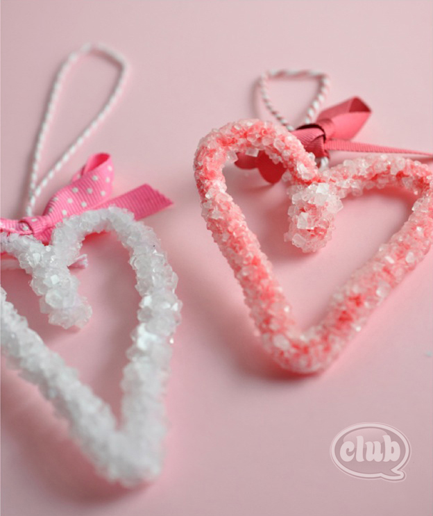 How-To: Borax Crystal Hearts