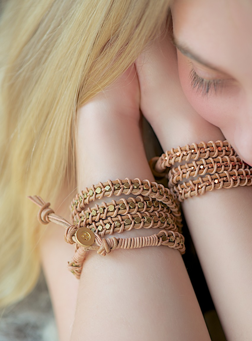 How-To: Leather and Bead Wrap Bracelet