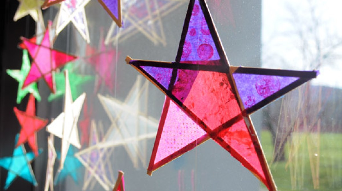 Kid Crafts: Wood and Paper Stars