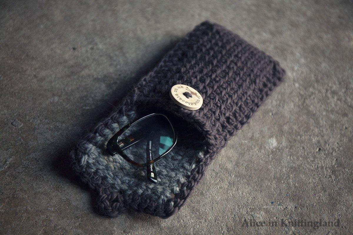 DIY Tunisian Crochet Glasses Case