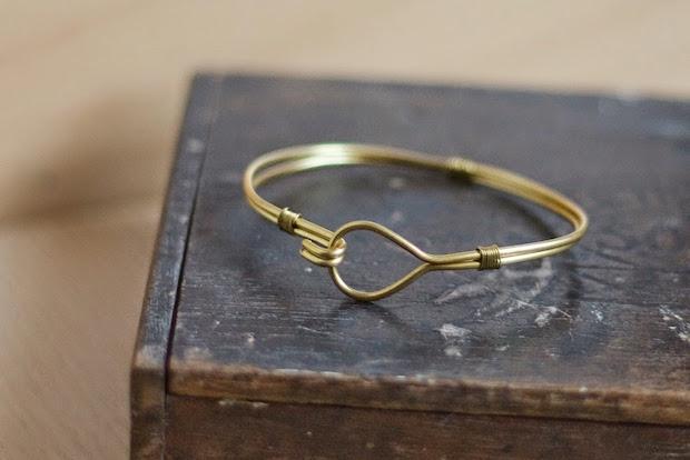 How-To: Brass Wire Bangle Bracelet