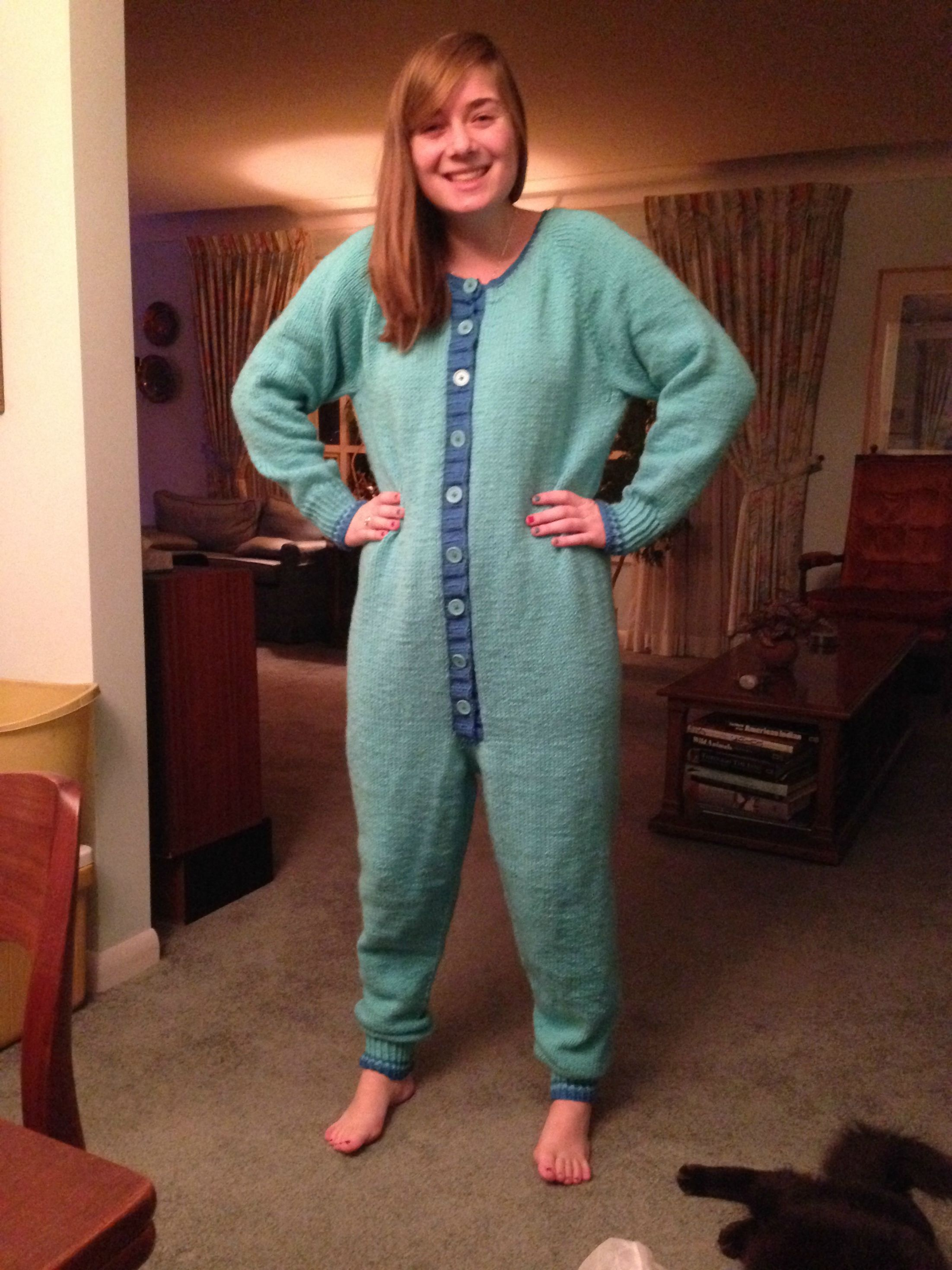 A Knitted Adult Onesie