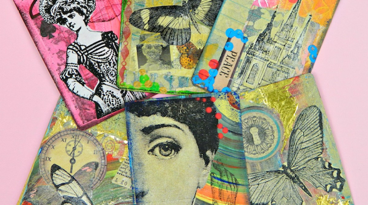 How-To: Make Rubber Texture Stamps for Artist Trading Cards