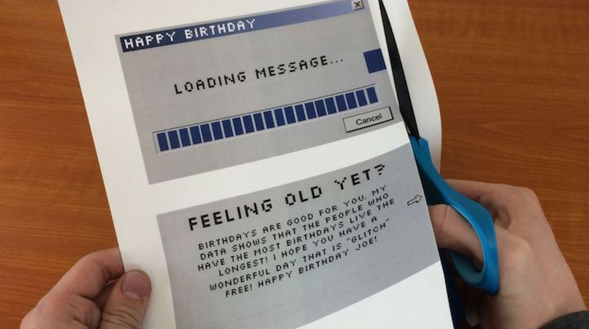 DIY Animated Loading Message Birthday Card