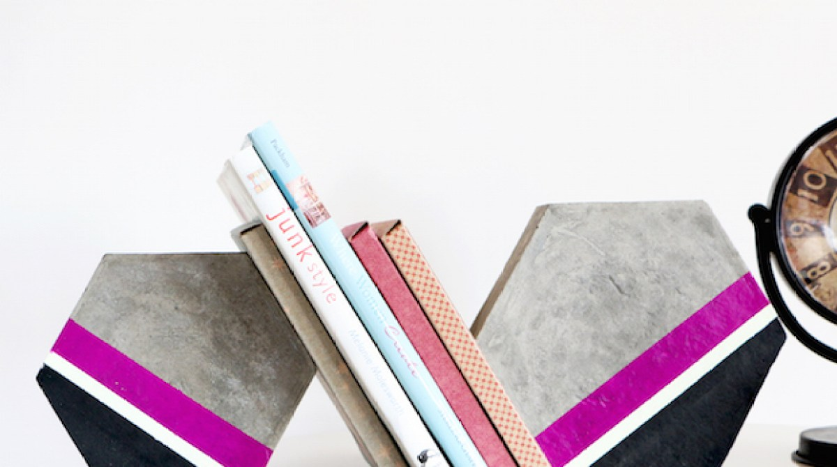 How-To: Cement Hexagon Bookends