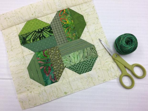 Sew Lucky: Four-Leaf Clover Quilt Block