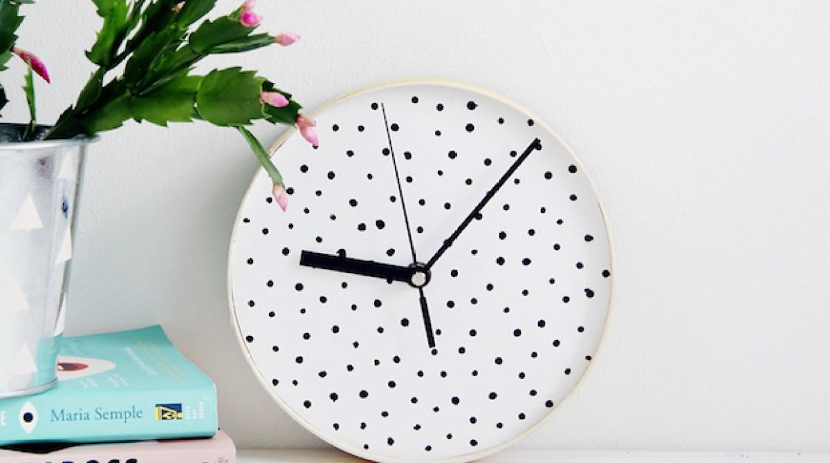 How-To: Polka Dot Wall Clock