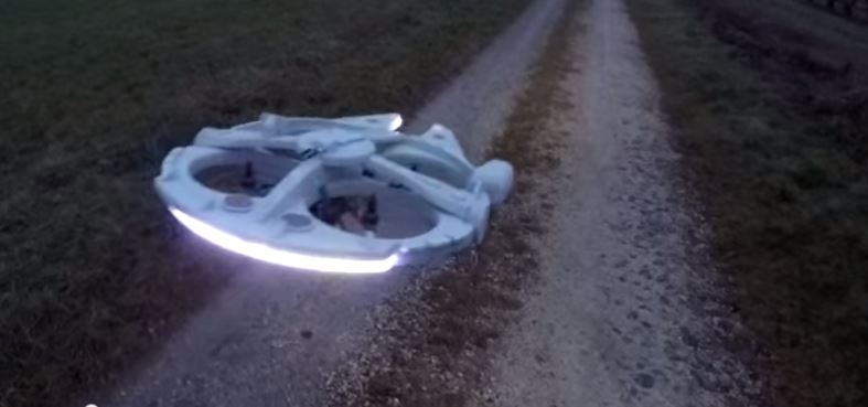 Transform a Quadcopter Into a Flying Millennium Falcon