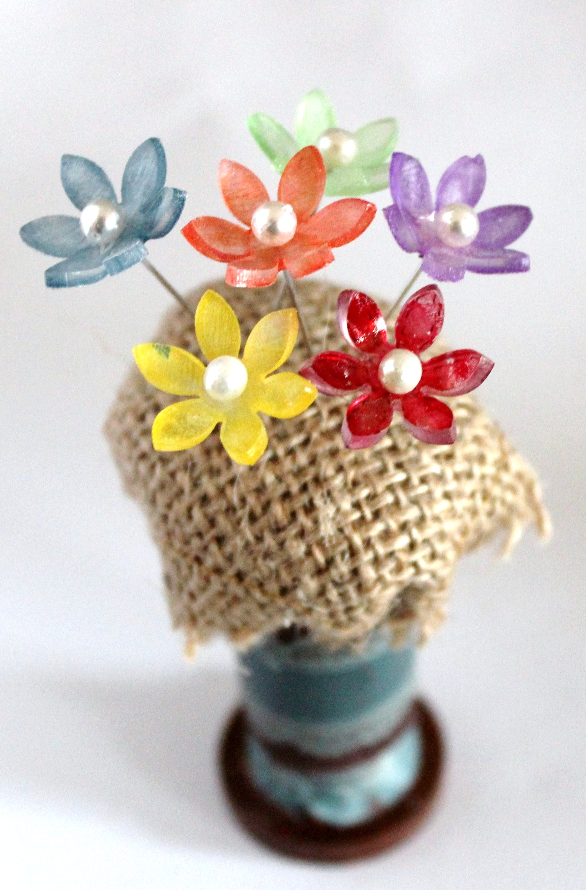 How-To: Shrink Plastic Flower Pins