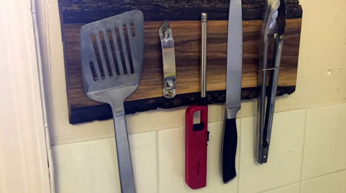 How To: Build A Rustic Wooden Magnetic Utensil Holder