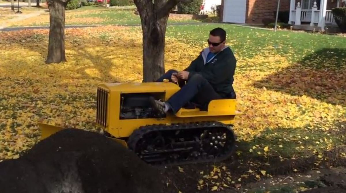 Building A Mini Bulldozer From Lawnmower Parts Make