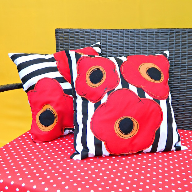 How-To: Bright and Pretty Poppy Pillow