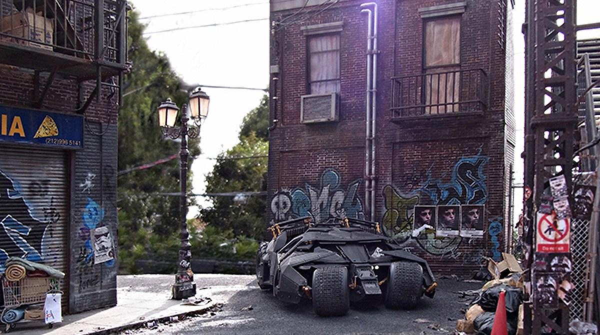 Unreal Miniature Dioramas of Batmobile, Urban Decay
