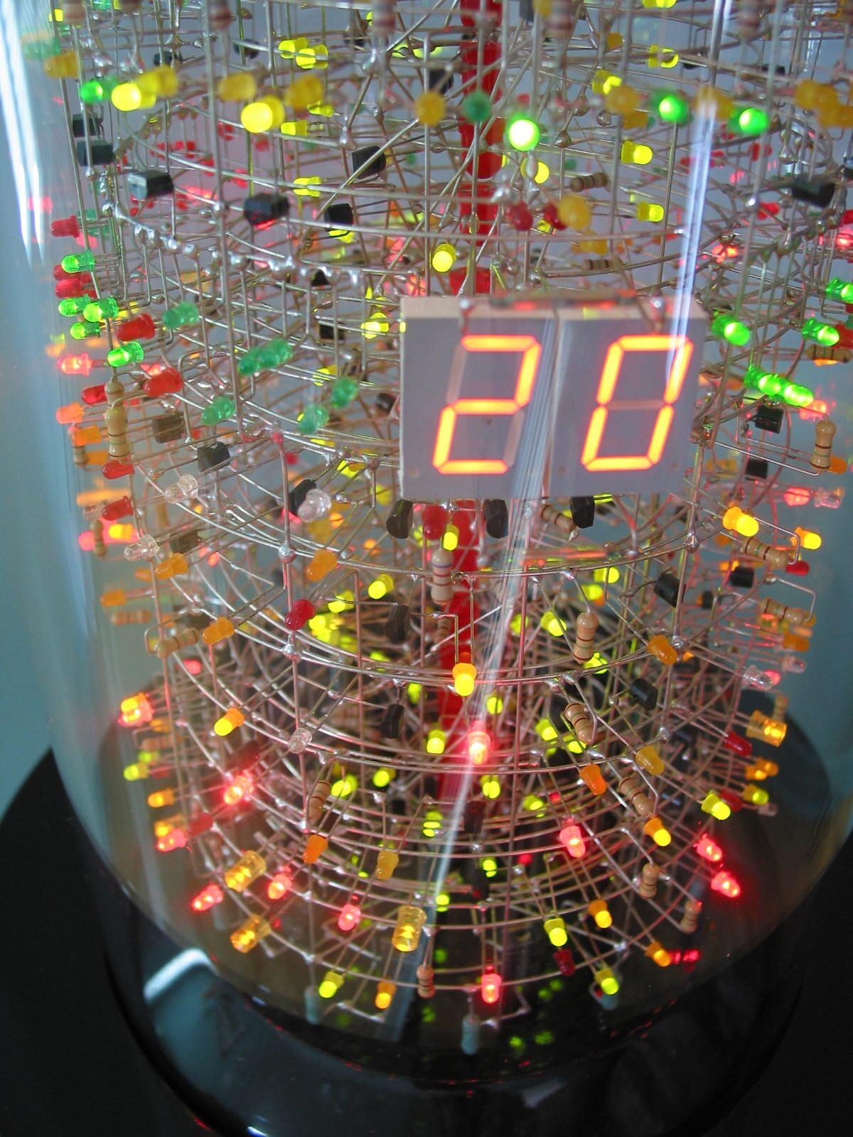 Soldering Savant Makes Insane 1,400-LED Tower