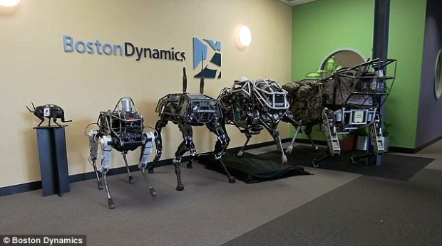 Boston Dynamics' BigDog line of quadruped robots.