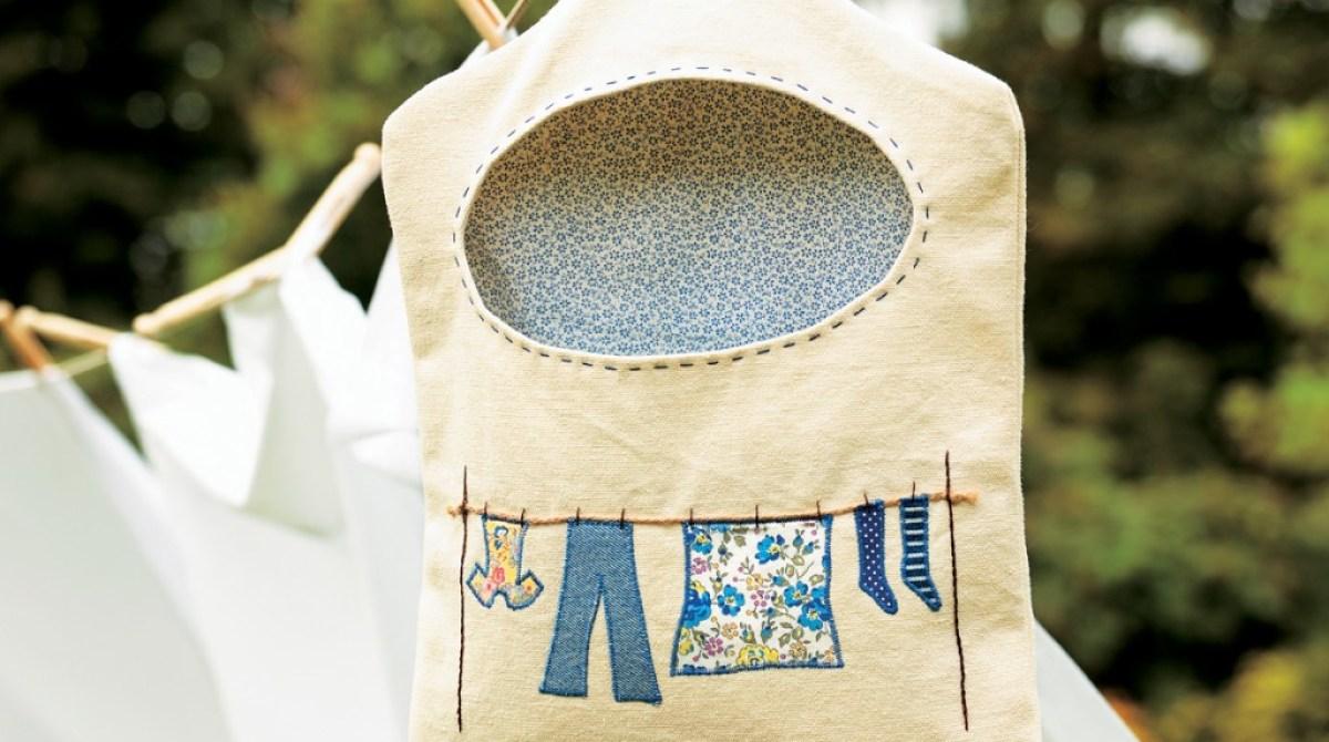 DIY Clothes Peg Bag