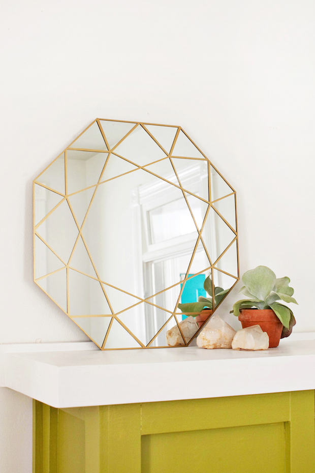 Handmade Decor: DIY Gem Mirror + Easy Glass Cutting