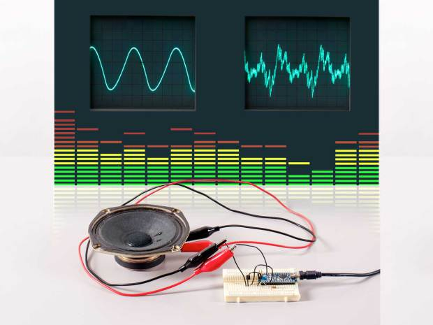 Skill Builder: Advanced Arduino Sound Synthesis The Arduino is an amazing platform for all kinds of projects, but when it comes to generating sound, many users struggle to get beyond simple beeps. With a deeper understanding of the hardware, you can use Arduino to generate any waveform you can imagine, and manipulate it in real time.