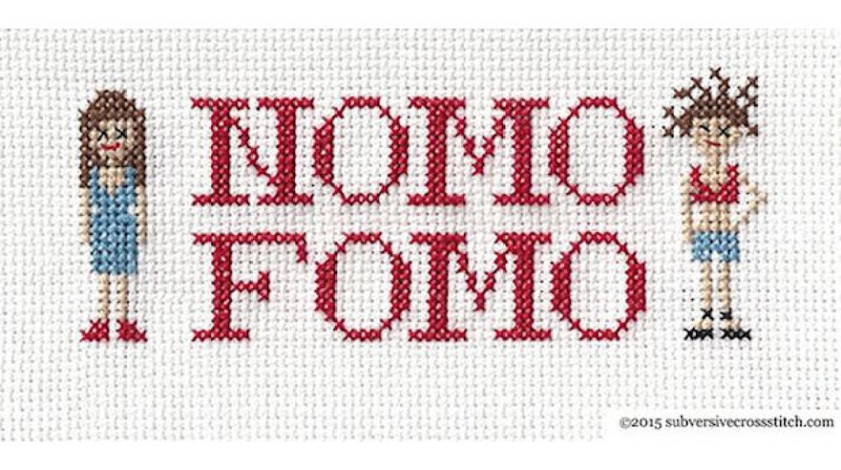 Broad City Stitches: NOMO FOMO Cross-Stitch Sampler