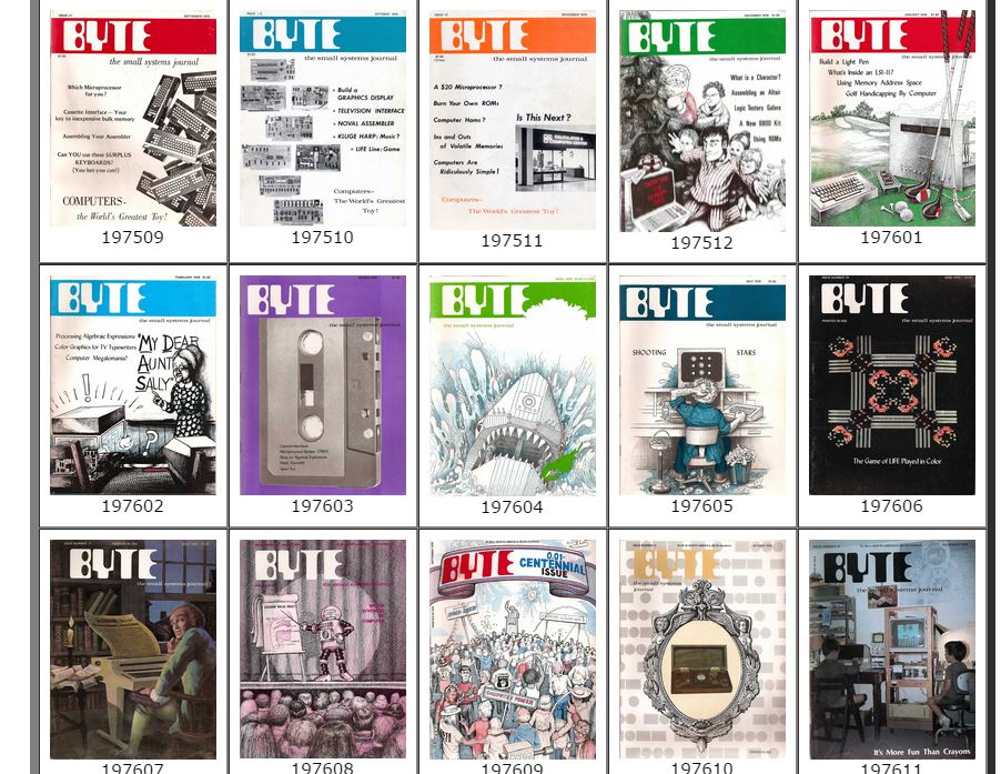 Flip Through History: 9 of Our Favorite BYTE Magazine Covers