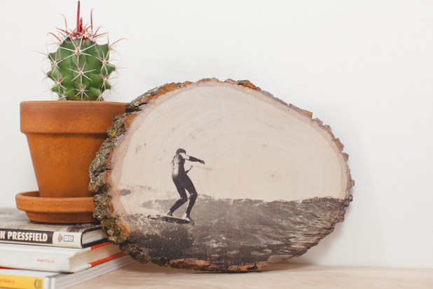 How-To: Transfer a Photo onto a Slice of Wood