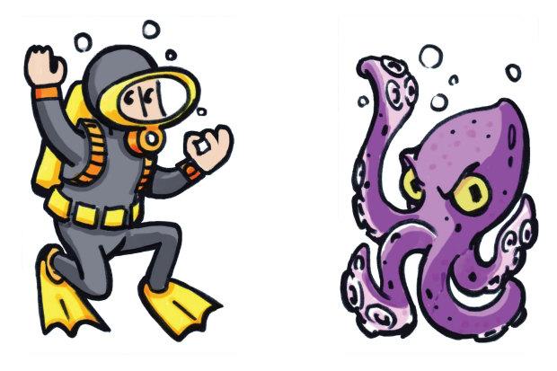 diver-octopus