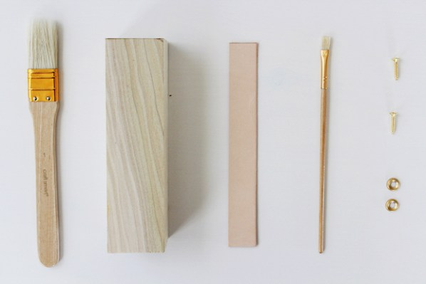Wood and Leather Door Wedge