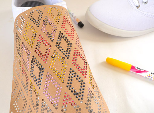 Use Stencils to Make DIY Patterned Shoes