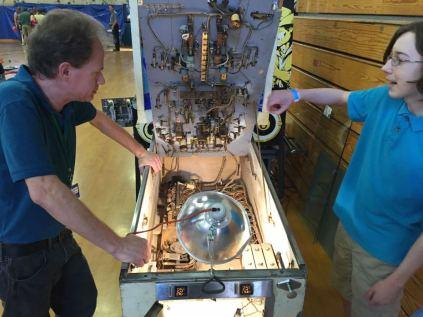 """Christopher Kuntz """"the Pinball Pirate"""" repairs pinball machines"""