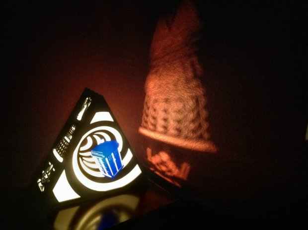 Plasmatoreum's Doctor Who Tardis Lamp features the famous Police Call box as well as few favorite characters.