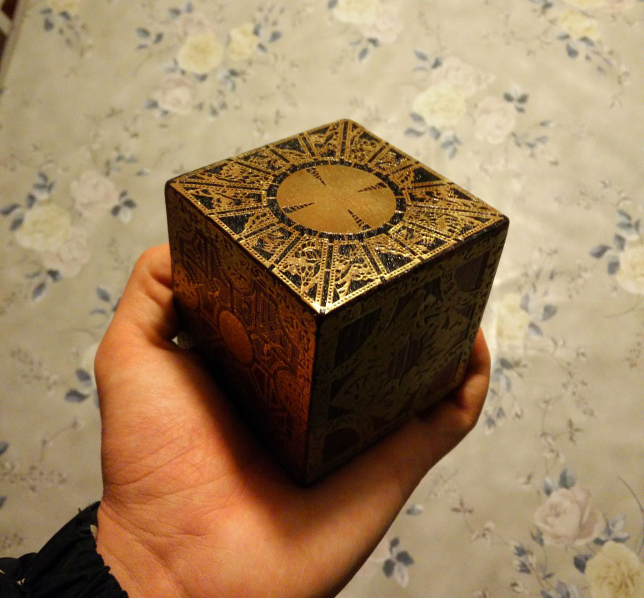 Etched Brass Hellraiser Puzzle Box Prop Is Easy and Beautiful
