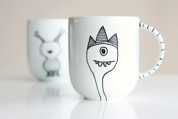 DIY Mug Design with Porcelain Paint Pen